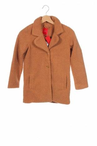 Детско палто S.Oliver, Размер 7-8y/ 128-134 см, Цвят Кафяв, Полиестер, Цена 60,72лв.