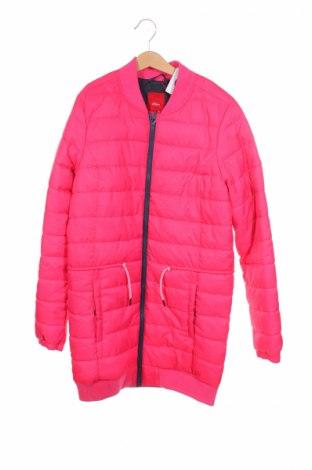 Детско яке S.Oliver, Размер 12-13y/ 158-164 см, Цвят Розов, Полиестер, Цена 65,40лв.