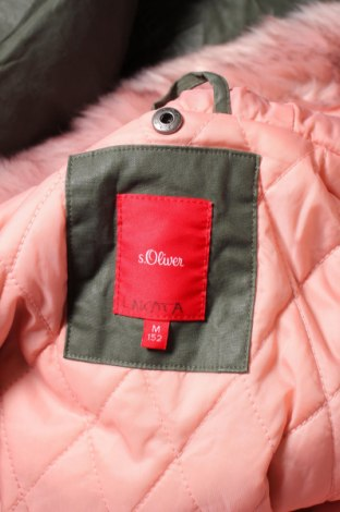 Детско яке S.Oliver, Размер 11-12y/ 152-158 см, Цвят Зелен, 100% памук, Цена 57,20лв.