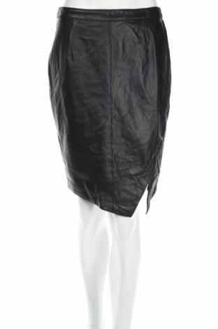 Δερμάτινη φούστα Portmons, Μέγεθος S, Χρώμα Μαύρο, Γνήσιο δέρμα, Τιμή 8,44€