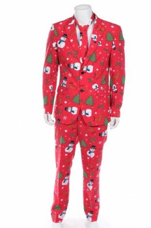 Pánsky oblek  Oppo Suits, Veľkosť L, Farba Červená, Polyester, Cena  57,73€