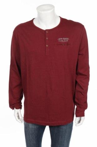 Ανδρική μπλούζα John Baner, Μέγεθος XL, Χρώμα Κόκκινο, Βαμβάκι, Τιμή 3,90€
