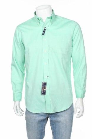 Мъжка риза American Living, Размер M, Цвят Зелен, 60% памук, 40% полиестер, Цена 28,07лв.