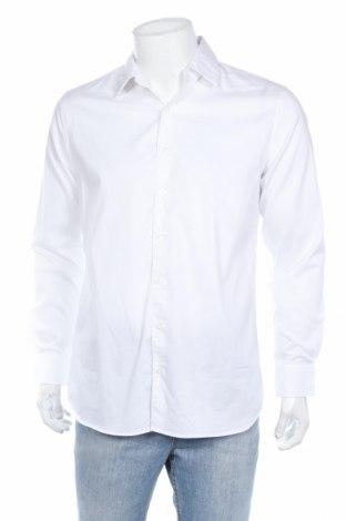 Ανδρικό πουκάμισο Mango, Μέγεθος L, Χρώμα Λευκό, 68% βαμβάκι, 29% πολυαμίδη, 3% ελαστάνη, Τιμή 17,94€