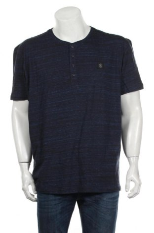 Мъжка тениска Tom Tailor, Размер XXL, Цвят Син, 80% памук, 20% полиестер, Цена 46,00лв.