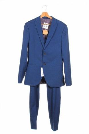 Pánsky oblek  Isaac Dewhirst, Veľkosť S, Farba Modrá, 67% polyester, 30% viskóza, 3% elastan, Cena  47,54€
