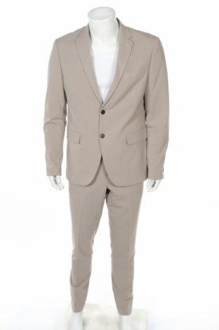 Pánsky oblek  Lindbergh, Veľkosť XL, Farba Béžová, 68% polyester, 30% viskóza, 2% elastan, Cena  59,10€