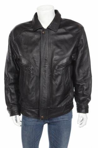 Мъжко кожено яке, Размер XL, Цвят Черен, Естествена кожа, Цена 33,96лв.