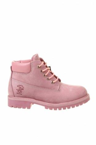 Обувки Beverly Hills Polo Club, Размер 35, Цвят Розов, Естествена кожа, Цена 114,92лв.