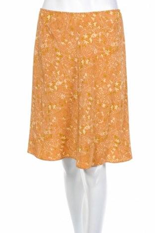 Пола DKNY, Размер S, Цвят Кафяв, 100% коприна, Цена 13,29лв.