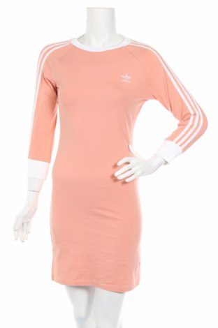 Šaty  Adidas Originals, Rozměr M, Barva Růžová, 93% bavlna, 7% elastan, Cena  672,00Kč