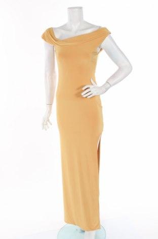 Рокля Club L, Размер M, Цвят Жълт, 95% полиестер, 5% еластан, Цена 24,92лв.