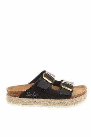 Papuci Sunbay, Mărime 38, Culoare Negru, Piele ecologică, Preț 194,90 Lei