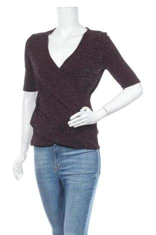 Дамска блуза Anna Field, Размер S, Цвят Червен, 77% полиестер, 18% метални нишки, 5% еластан, Цена 13,01лв.