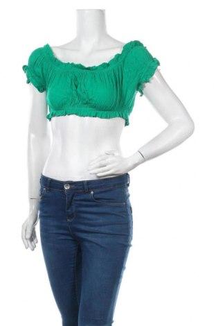 Дамска блуза Ava & Ever, Размер M, Цвят Зелен, Вискоза, Цена 3,49лв.