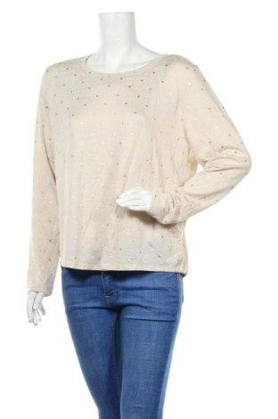 Дамска блуза Brilliant, Размер L, Цвят Бежов, Полиестер, еластан, Цена 16,96лв.