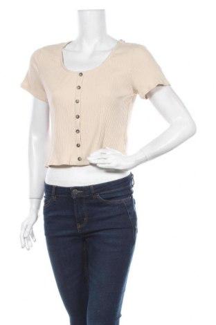 Дамска блуза H&M, Размер M, Цвят Бежов, 93% памук, 7% еластан, Цена 4,20лв.