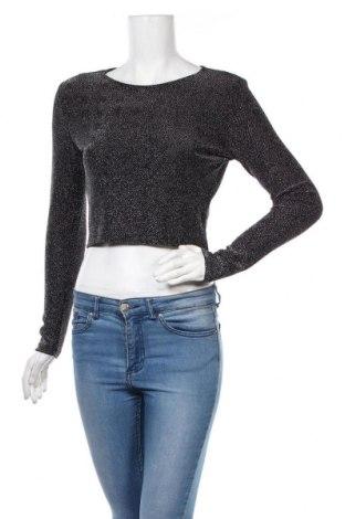 Γυναικεία μπλούζα H&M, Μέγεθος S, Χρώμα Ασημί, 87% πολυαμίδη, 9% μεταλλικά νήματα, 4% ελαστάνη, Τιμή 10,67€