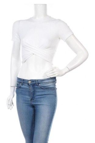 Γυναικεία μπλούζα H&M Divided, Μέγεθος S, Χρώμα Λευκό, 88% πολυεστέρας, 12% ελαστάνη, Τιμή 10,67€