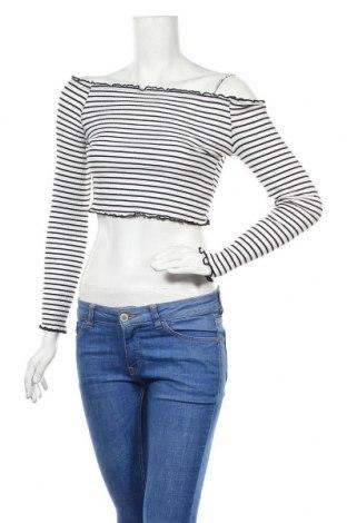 Γυναικεία μπλούζα H&M Divided, Μέγεθος S, Χρώμα Λευκό, 92% βαμβάκι, 8% ελαστάνη, Τιμή 11,04€
