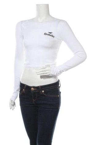 Γυναικεία μπλούζα Hollister, Μέγεθος XS, Χρώμα Λευκό, 95% βαμβάκι, 5% ελαστάνη, Τιμή 9,05€