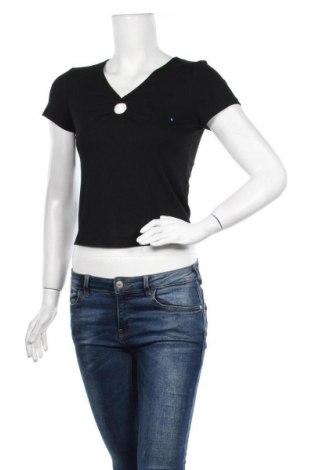 Bluză de femei Hollister, Mărime M, Culoare Negru, 65% poliester, 31% viscoză, 4% elastan, Preț 34,54 Lei