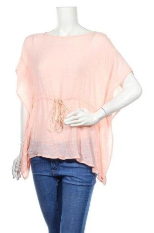 Дамска блуза Vrs Woman, Размер XXL, Цвят Розов, 65% вискоза, 35% полиестер, Цена 10,71лв.