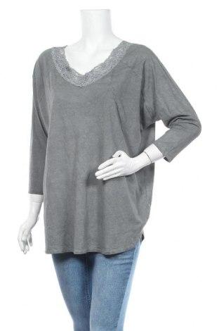 Дамска блуза Vrs Woman, Размер L, Цвят Сив, Памук, Цена 5,95лв.
