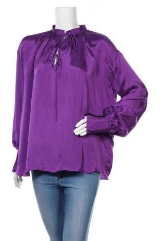 Γυναικεία μπλούζα Zara, Μέγεθος S, Χρώμα Βιολετί, 55% βισκόζη, 45% χαλκαμμωνία, Τιμή 25,52€