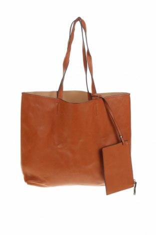Дамска чанта, Цвят Кафяв, Еко кожа, Цена 24,36лв.