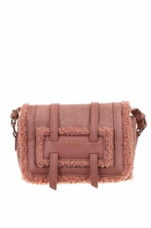 Дамска чанта, Цвят Розов, Текстил, еко кожа, Цена 14,33лв.