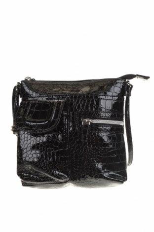 Дамска чанта, Цвят Черен, Еко кожа, Цена 22,68лв.