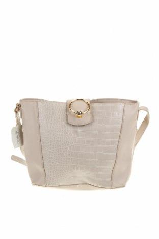 Дамска чанта, Цвят Бежов, Еко кожа, Цена 25,20лв.