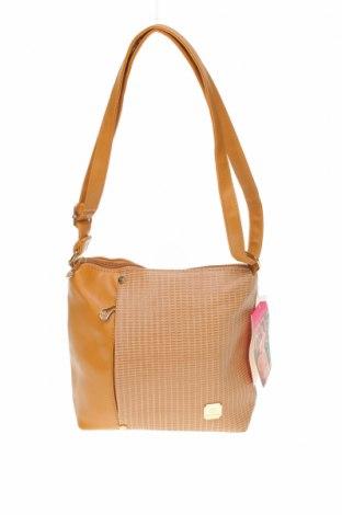 Γυναικεία τσάντα, Χρώμα  Μπέζ, Δερματίνη, Τιμή 12,67€