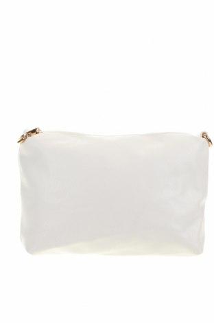 Γυναικεία τσάντα, Χρώμα Λευκό, Δερματίνη, Τιμή 12,47€