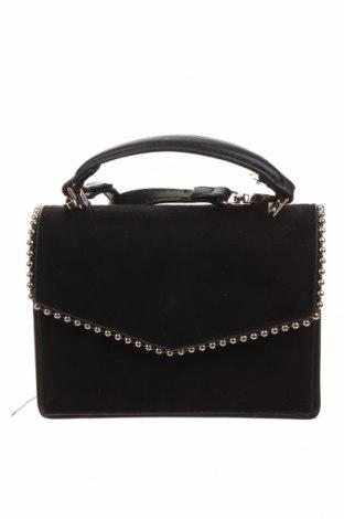 Γυναικεία τσάντα Bershka, Χρώμα Μαύρο, Κλωστοϋφαντουργικά προϊόντα, δερματίνη, Τιμή 22,73€