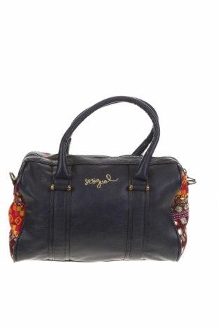 Γυναικεία τσάντα Desigual, Χρώμα Μπλέ, Δερματίνη, κλωστοϋφαντουργικά προϊόντα, Τιμή 47,17€