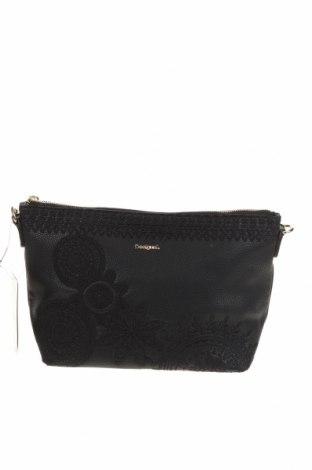 Γυναικεία τσάντα Desigual, Χρώμα Μαύρο, Δερματίνη, Τιμή 38,27€