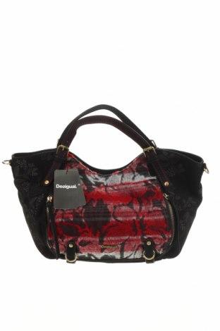 Γυναικεία τσάντα Desigual, Χρώμα Μαύρο, Κλωστοϋφαντουργικά προϊόντα, Τιμή 53,74€