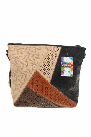 Γυναικεία τσάντα Desigual, Χρώμα Μαύρο, Δερματίνη, Τιμή 46,01€