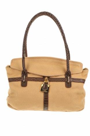 Γυναικεία τσάντα Laura Biagiotti, Χρώμα  Μπέζ, Κλωστοϋφαντουργικά προϊόντα, Τιμή 26,72€