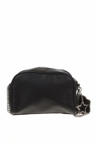 Дамска чанта Mango, Цвят Черен, Еко кожа, Цена 22,68лв.