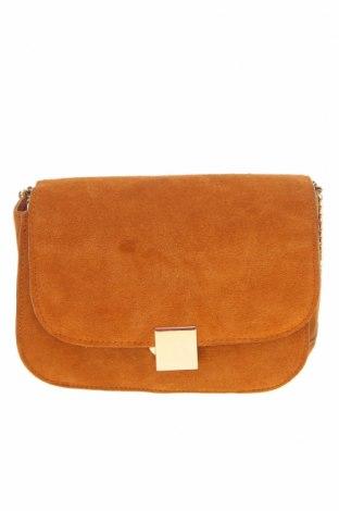 Γυναικεία τσάντα Mango, Χρώμα Καφέ, Φυσικό σουέτ, Τιμή 14,60€