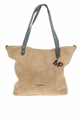 Дамска чанта Marc Picard, Цвят Бежов, Еко кожа, Цена 29,40лв.