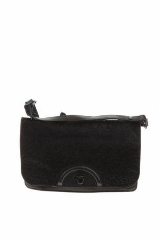 Дамска чанта Mimco, Цвят Черен, Естествена кожа, естествен косъм, Цена 59,38лв.