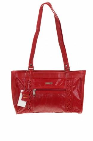 Дамска чанта Stefano, Цвят Червен, Естествена кожа, еко кожа, Цена 48,72лв.