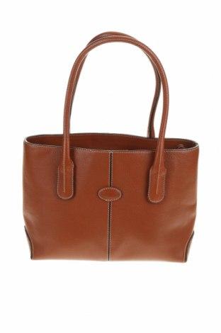 Γυναικεία τσάντα Tod's, Χρώμα Καφέ, Γνήσιο δέρμα, Τιμή 127,05€