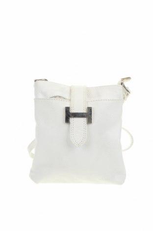 Γυναικεία τσάντα Varese, Χρώμα Λευκό, Γνήσιο δέρμα, Τιμή 36,65€