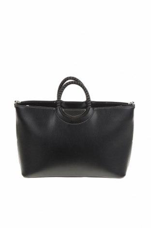 Γυναικεία τσάντα Zara, Χρώμα Μαύρο, Δερματίνη, Τιμή 22,73€