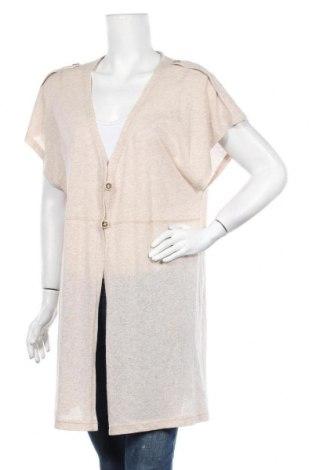 Γυναικεία ζακέτα Gina Laura, Μέγεθος XL, Χρώμα  Μπέζ, 40% βαμβάκι, 40% πολυακρυλικό, 20% πολυεστέρας, Τιμή 14,36€